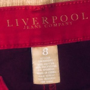 Fabulous Red designer Jeans by Liverpool Sz. 8